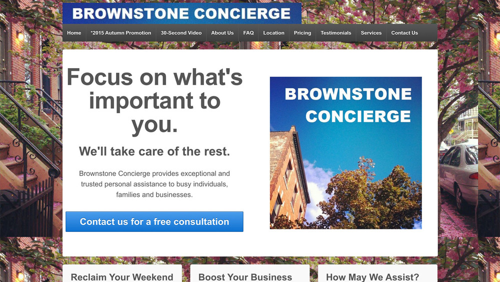 Brownstone Concierge  (Jersey City, Hudson County)  Personal & professional assistance, travel services, event production, goal partnering, and more.