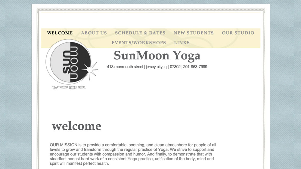 SunMoon Hot Yoga  (Jersey City, Hudson County)  Bikram Style (Traditional Hot Yoga), Vinyasa Yoga, Hot Vinyasa Yoga, Restorative Yoga, and more.