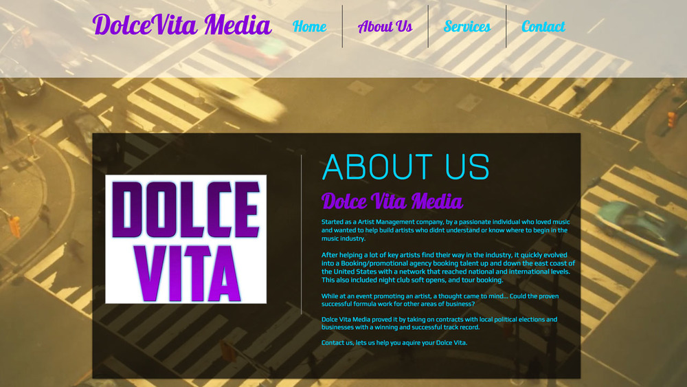 Dolce Vita Media  (Trenton, Mercer County) Marketing and branding, social media presence, strategy, promotion, and more.