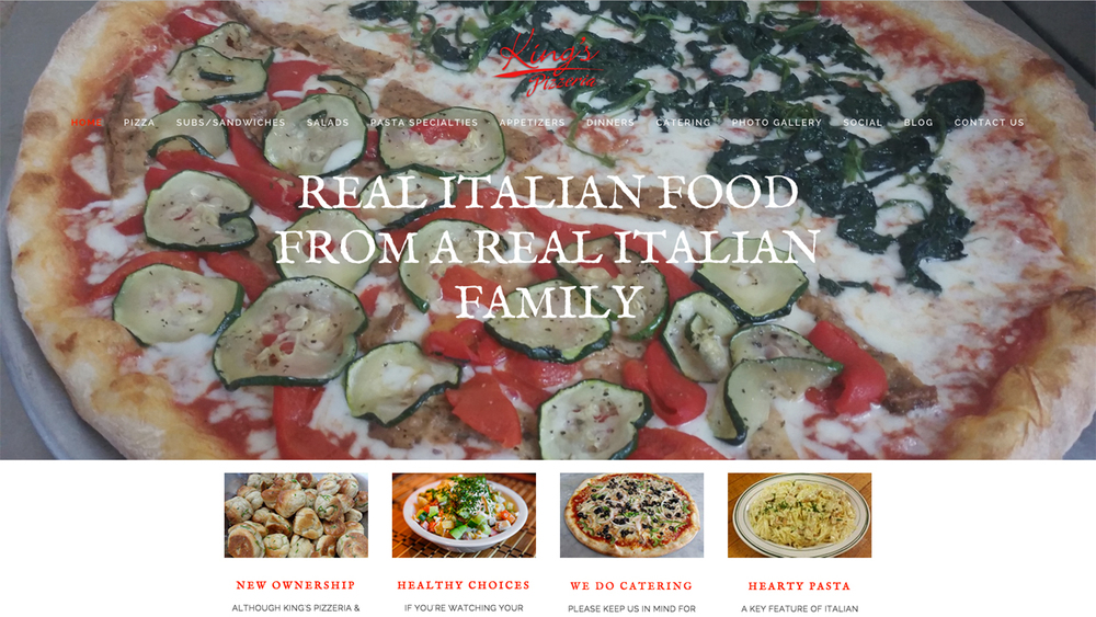 King's Pizzeria & Italian Restaurant  (Somerset, Somerset County) Italian cuisine. Gourmet pizza, subs, sandwiches, salads, pasta, and more. Located at 1165 State Route 27.