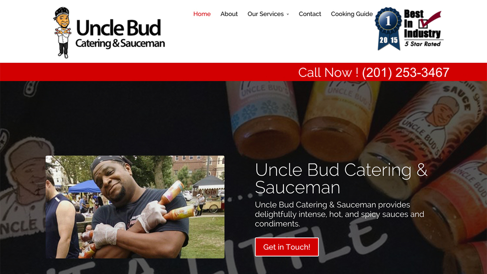 UNCLE BUD Catering   (Jersey City, Hudson County)   Homemade specialty hot sauces and BBQ sauces. Catering services. Located at   354 New York Avenue.