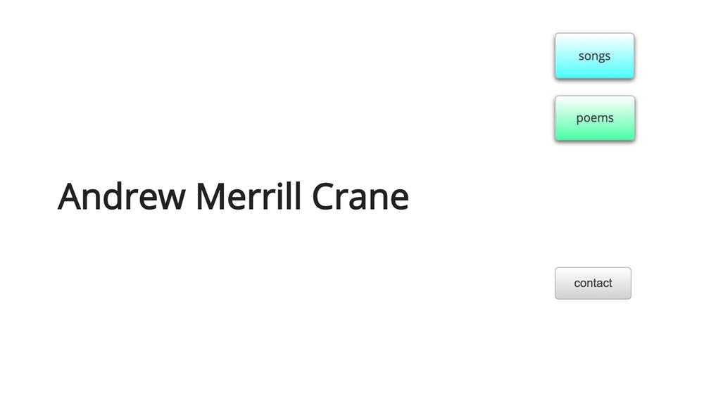 Andrew Merrill Crane (Chatham -Morris County) Poet,singer-songwriter