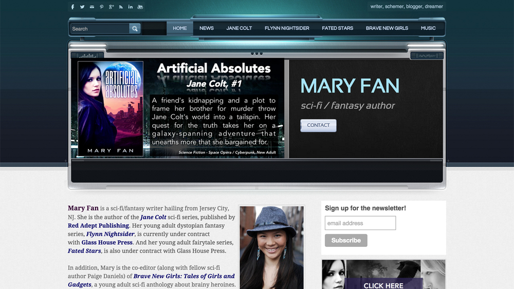 Mary Fan  (Jersey City - Hudson County)  Sci-fi / fantasy writer