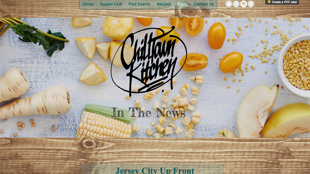 Chilltown Kitchen  (Jersey City, Hudson County) Supper Club. Meets once/month. Menu and location varies.