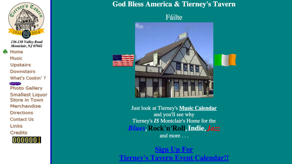 Tierney's Tavern  (Montclair, Essex County) Hamburgers, hot dogs, wings, philly cheese steaks, grilled cheese, sandwiches, beer, wine, and more. Located at 136-138 Valley Road.