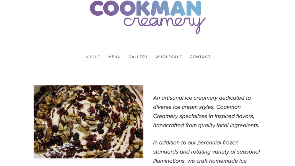 Cookman Creamery   (Asbury Park, Monmouth County)   Vegan, gluten-free, sugar-free handcrafted ice cream, ice cream pies, cakes, cookies, sundaes, and more.