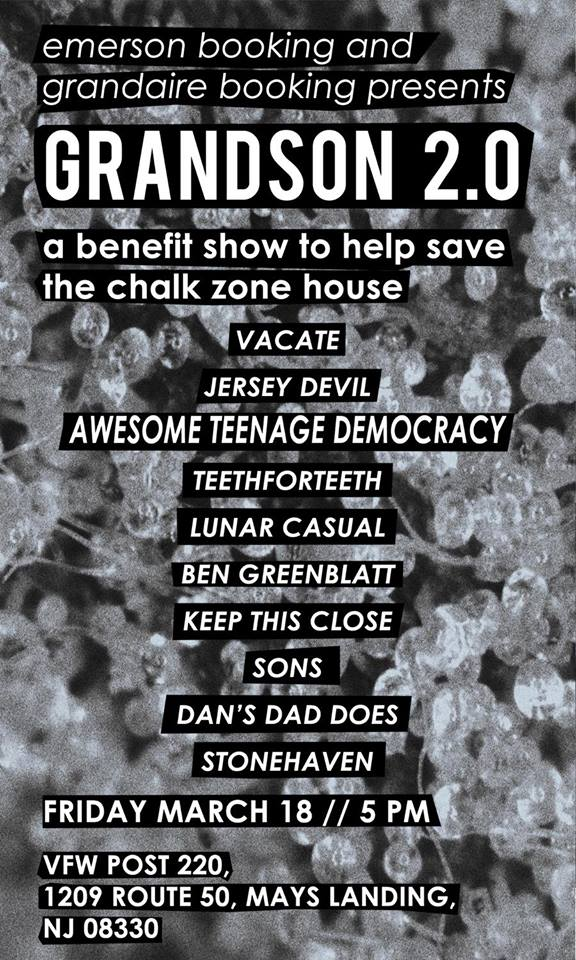 "Flier "" The Official Grandson Show 2.0:Chalk Zone Benefit """