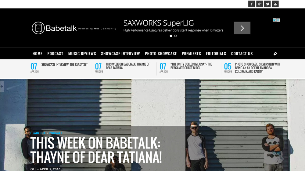Babetalk (Galloway, Atlantic County) Podcast, music reviews, interviews, photos, premieres, editorials