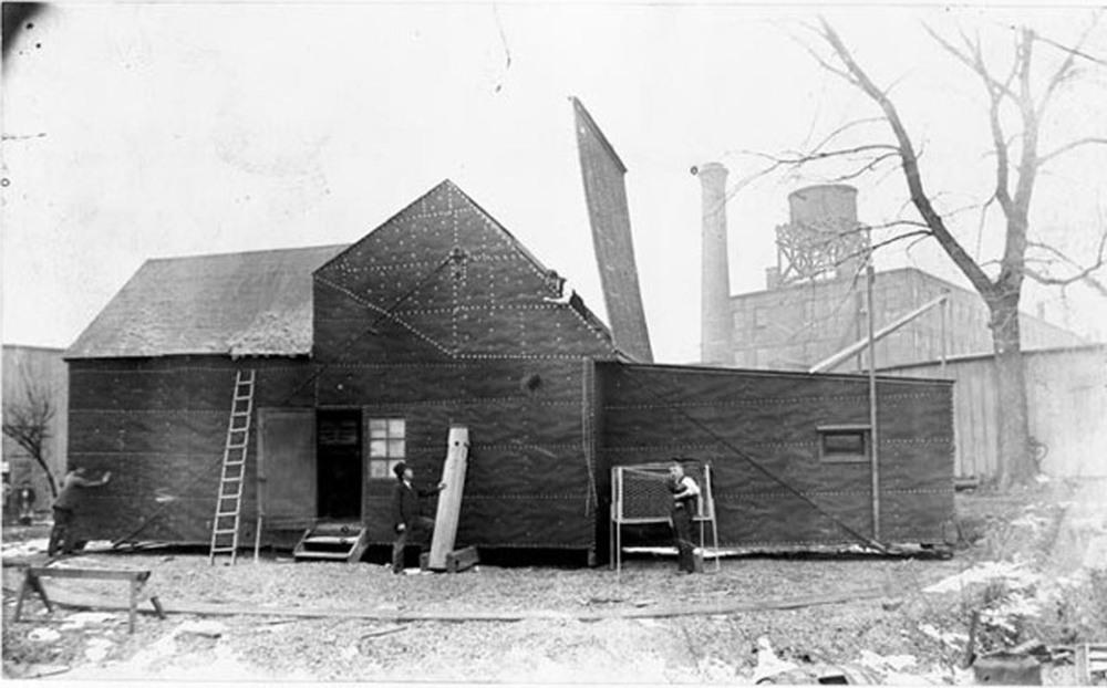 Edison's Black Maria Production Studio, circa 1894.