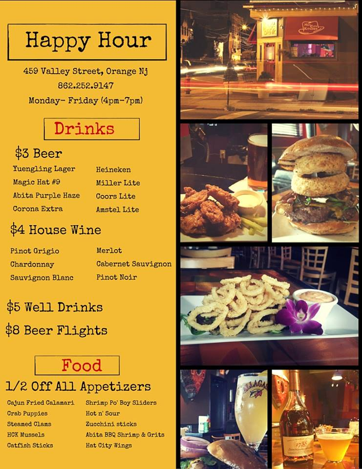 Hat City Kitchen Happy Hour Menu