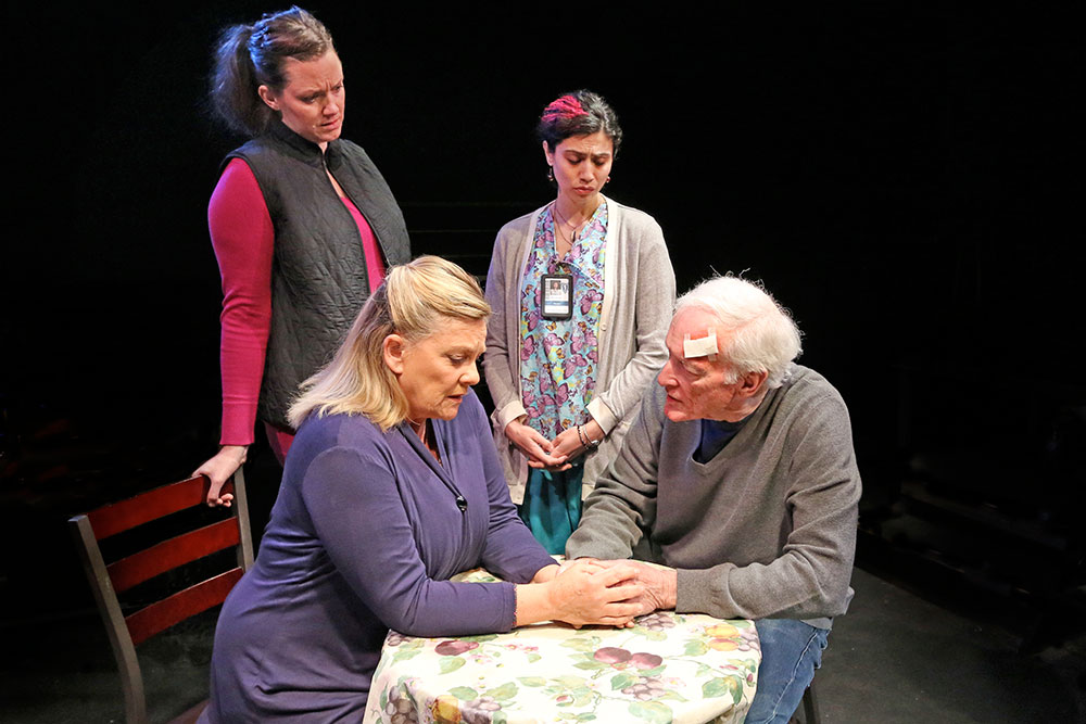 Left to Right: Claire McClanahan,  Kim Zimmer,  Ava Eisenson, Thomas Molyneaux.  Photo by Christopher Drukker.
