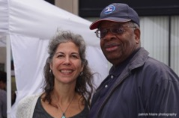 Gregory Burrus with artist Cat Delett