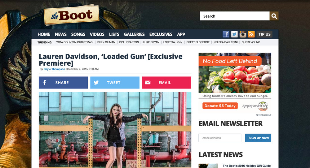 http://theboot.com/lauren-davidson-loaded-gun/