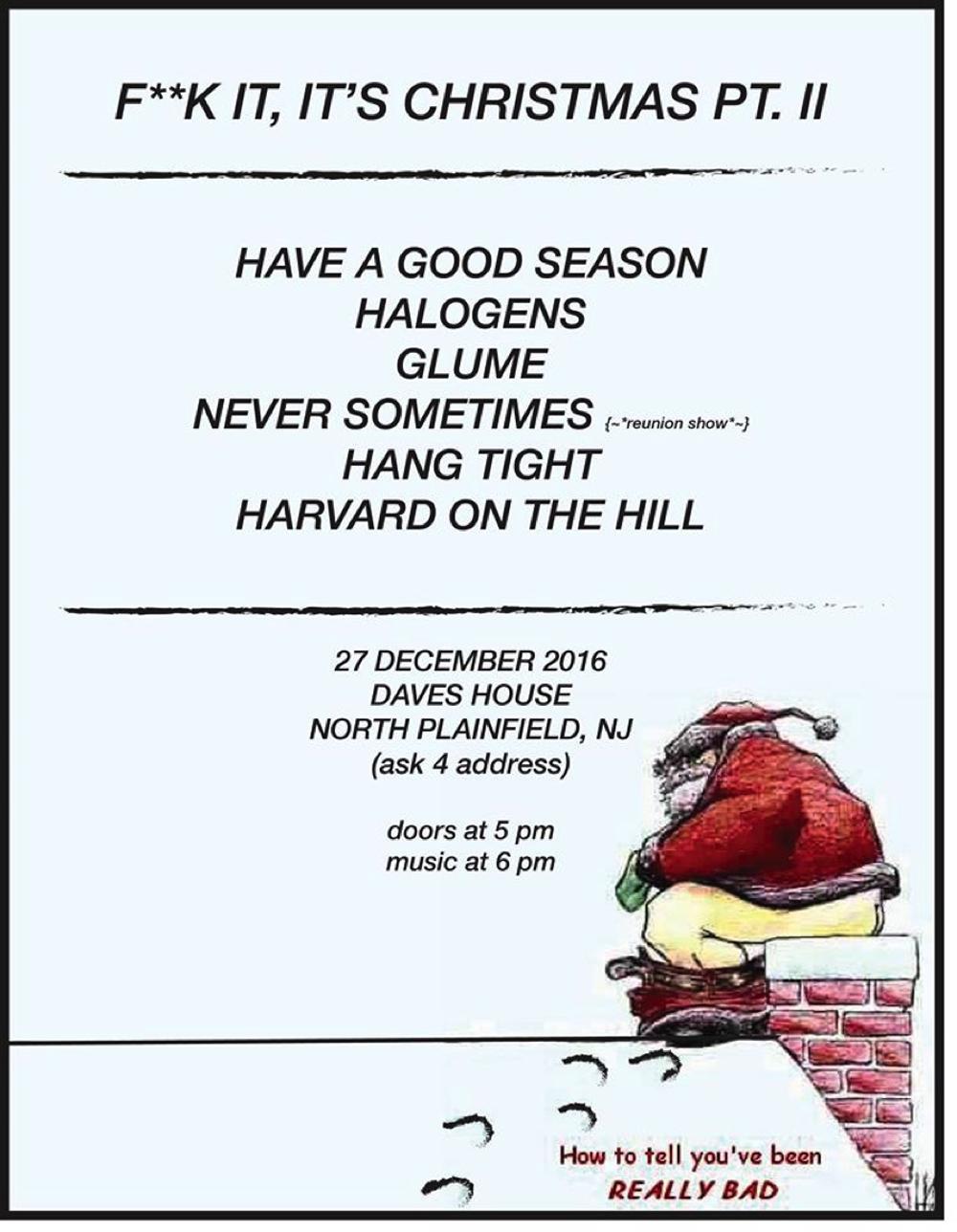 F**k It, It\'s Christmas Pt. II (Dec. 27, 2016) — Jersey Indie