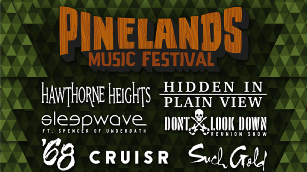 Pinelands Music Festival 2016 (Oct. 9, 2016)   Alternative Rock, Post Punk, Post Rock, Indie Pop  Millville, NJ  Posted Sept. 15th, 2016