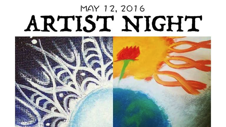 Artist Night at Grandsons Cafe (May 12, 2016) Visual arts, drawing, photography, painting, sculpture, acoustic performances Hammonton, NJ Posted May 6, 2016