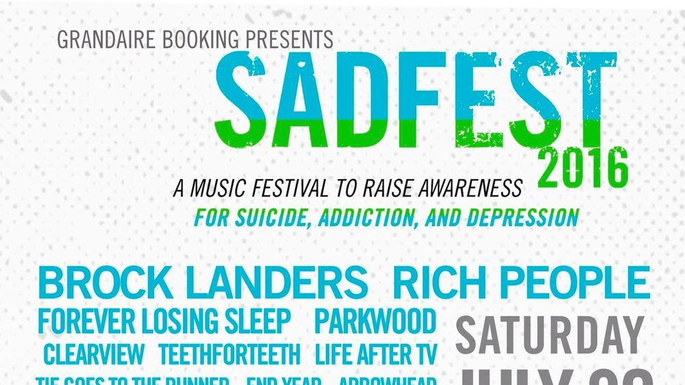 SADfest 2016 (July 30-31, 2016)   Music festival, rock, alternative, ambient, emo, experimental, folk, hardcore, metal, post-hardcore, post-rock, progressive, shoegaze    Hammonton, NJ    Posted July 13, 2016