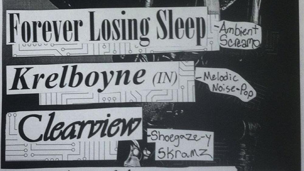 LOSER CASUAL BOOKING PRESENTS: FOREVER LOSING SLEEP, KRELBOYNE, CLEARVIEW, THE NEW HARMONY AT CHALKZONE (Feb. 10, 2017)   Indie Pop, Screamo    Cape May, NJ   Posted Monday, February 6, 2017