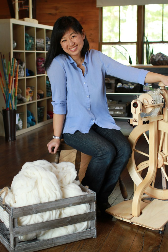 Anne Choi,owner of Middle Brook Fiberworks in Bedminister, NJ.