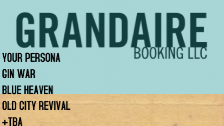 GRANDAIRE BOOKING SHOW AT GRANDSONS - FREE (Mar. 1, 2017)   Alternative, Rock, Pop, Indie   Hammonton, NJ   Posted Friday, February 24, 2017