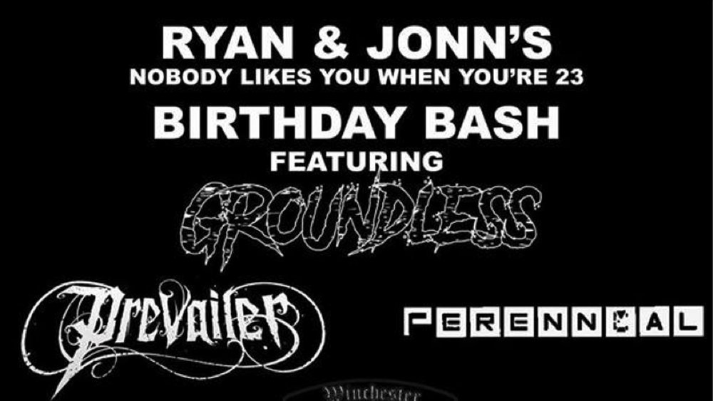 BIRTHDAY SHOW AT THE WATERING HOLE (March 25, 2017)    Metalcore, Hardcore, Metal, Thrash Punk, Rock    Mays Landing, NJ   Posted Friday, March 3, 2017