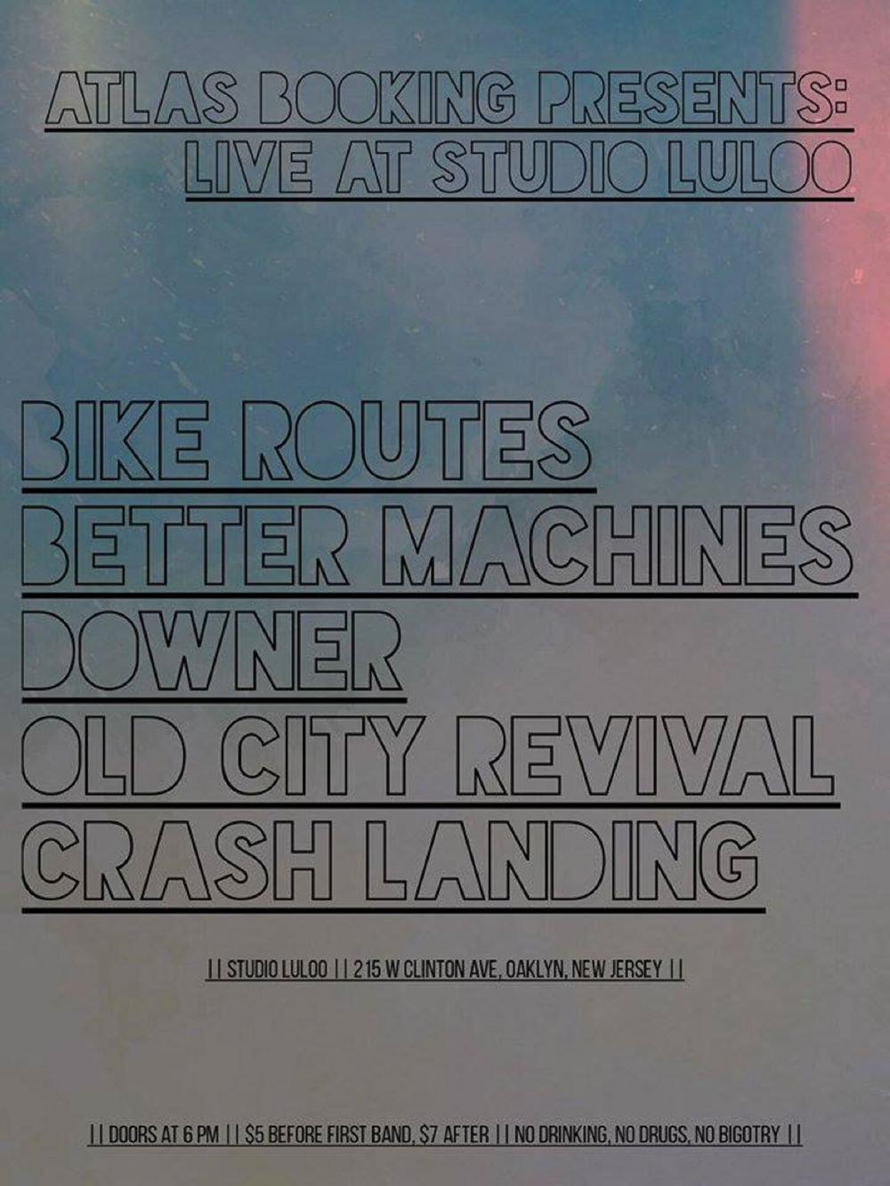 Atlas Booking show at Studio Luloo flier.png