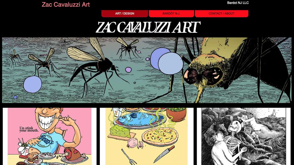 INTERVIEW WITH ARTIST ZACHARY CAVALUZZI   Multi-Media Artist, Comic Book Writer/Illustrator   Middletown, NJ   Posted May 5, 2018