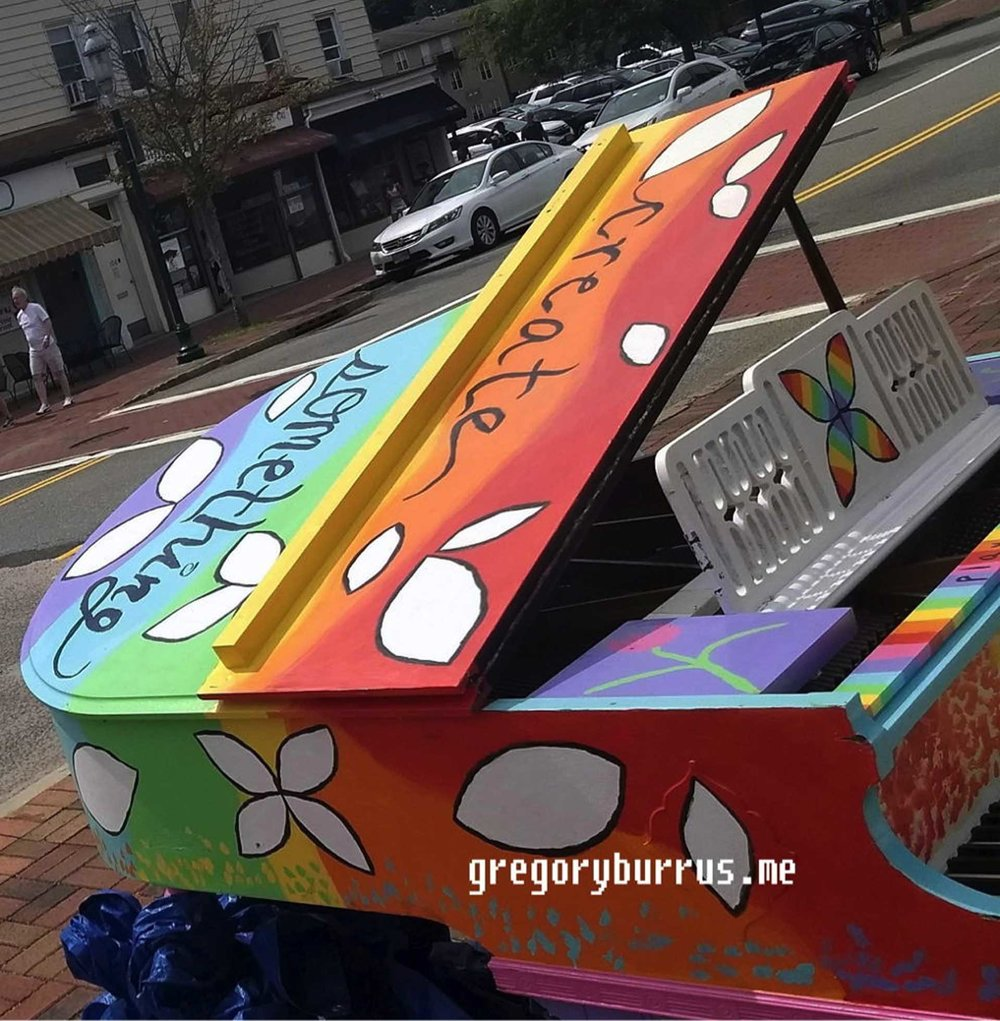 Jessica Skultety painted the Baby Grand piano on South Orange Ave.jpg