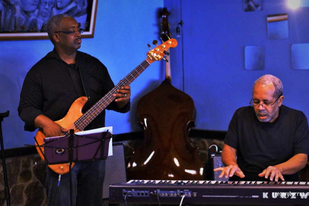 Grammy Nominee, pianist Nat Adderley Jr. with bass player Darryl Clark.jpg