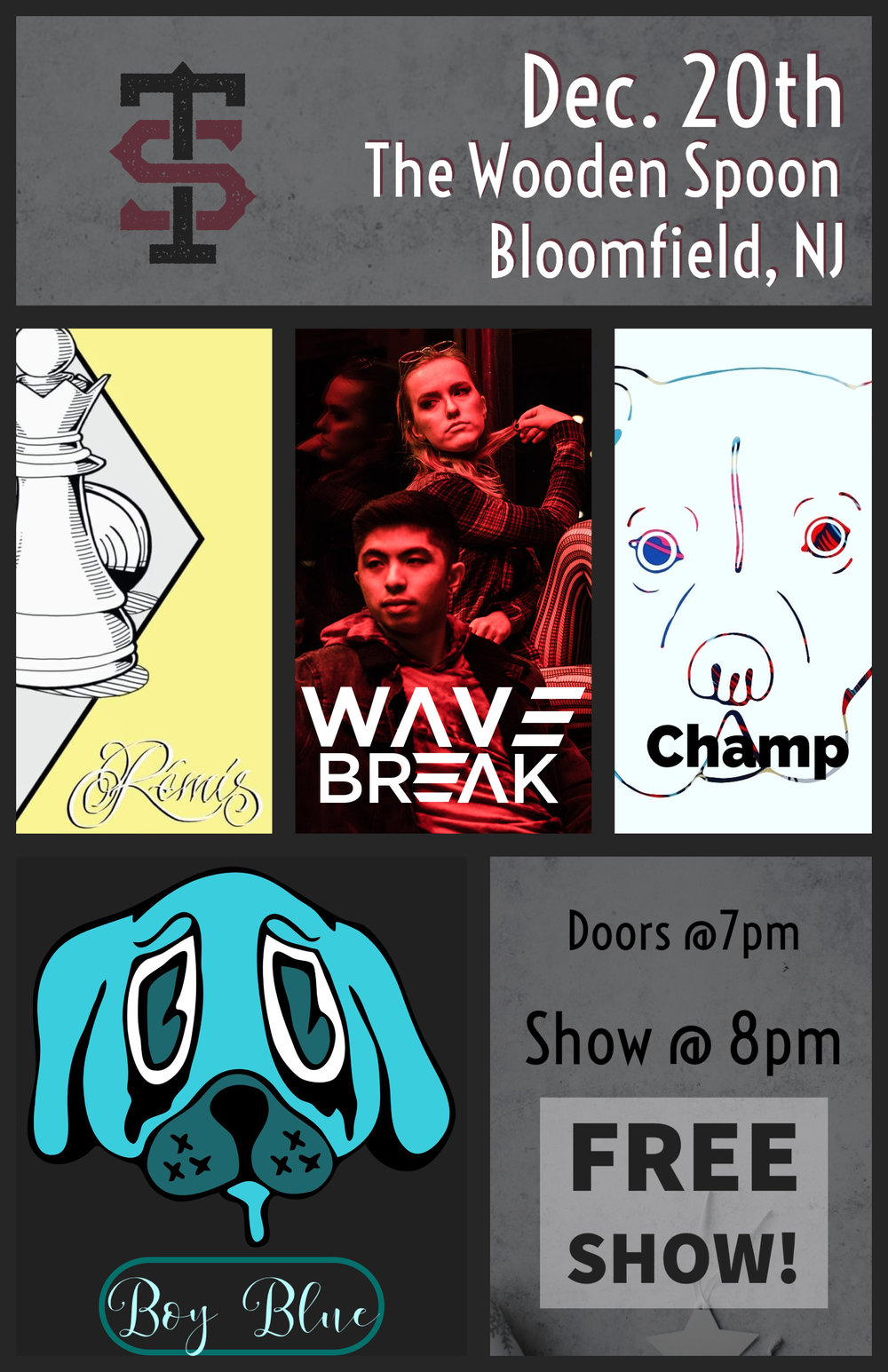 Dec 20 Concert at The Wooden Spoon in Bloomfield New Jersey 8pm Free Show.jpg