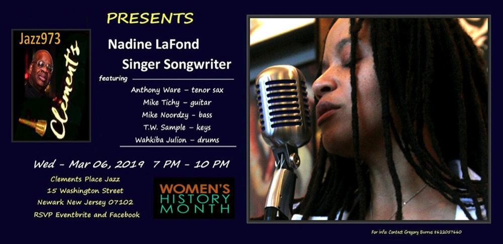 Jazz973 Presents Nadine LaFond Singer Songwriter March 6 2019.jpg