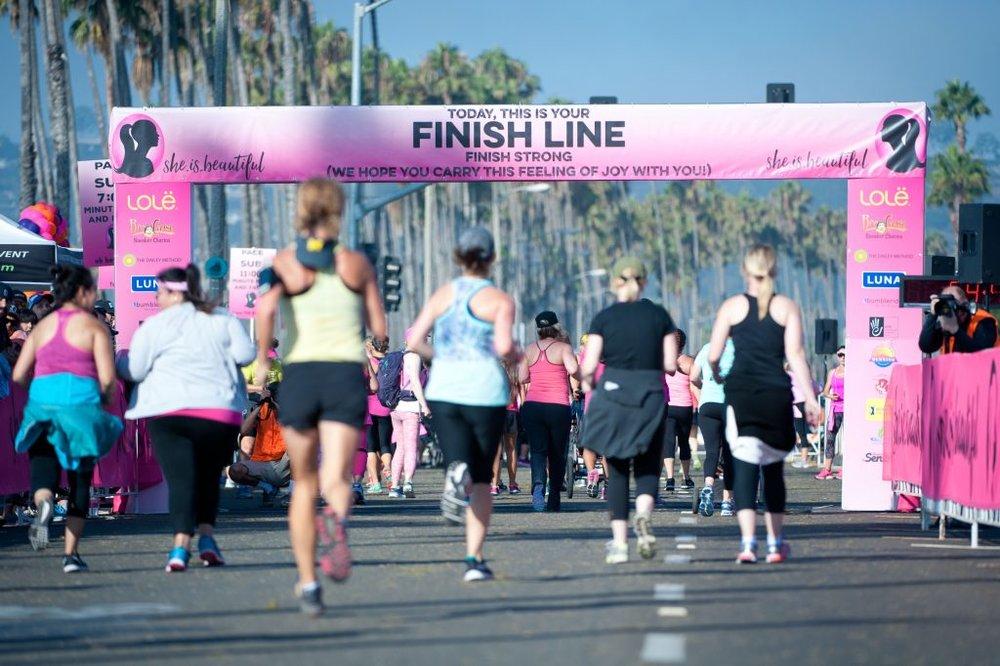 She.is.beautiful finish line in Santa Barbara, CA