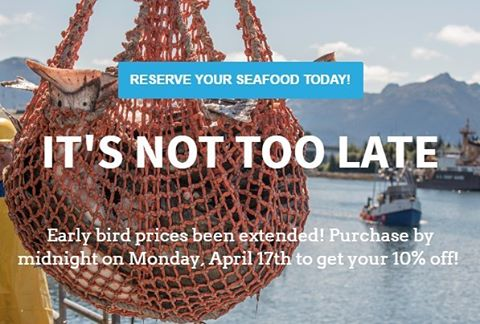 It's not too late to get early bird pricing on your Alaskans own subscription! Visit alaskansown.com by midnight on Monday, April 17 to get your share.  #sustainablefish #sustainableliving #conservewater #fishalaska #alaska #nature #fish #salmon #halibut #cooking #buylocal