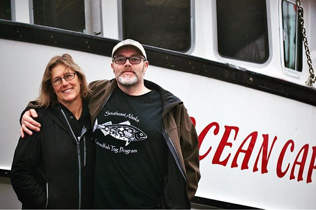 Wendy and Jason, ALFA members who operate the F/V Ocean Cape, supplied all of our Alaskans Own spot prawns for 2017. These large, delicious prawns were harvested sustainably using pot gear, a method that has minimal impact on ocean habitats. We are thrilled to offer these prawns to AO customers for the second season!  It's not too late to support Alaskans Own, fishery conservation work, small boats like the Ocean Cape, and wild-caught seafood- we have a limited supply of spot prawns left for purchase for AO subscribers only on our AO store.  Not a subscriber? It's not too late to sign up! http://www.alaskansown.com/  #sustainable fish #buylocal #spotprawns #shrimp #fish #seafood #transparency #savetheocean #savethefish #knowyourfisherman #alaska #sitkaalaska  Photo   @aruss947
