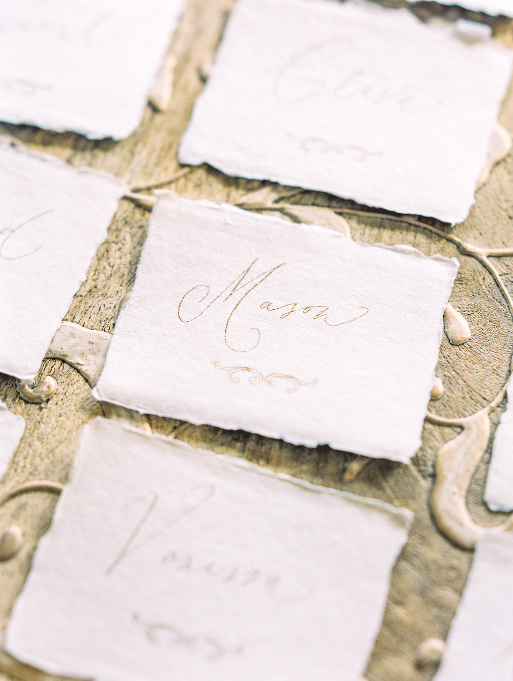 Paper Goods & Calligraphy: Spurlé Gul Studio | Photography: Lissa Ryan Photography | Planning & Creative Direction: Claire Duran Wedding & Events | Venue: Dover Hall Estate