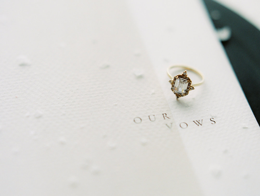 Photography: Jeremy Chou | Styling/Design: Natalie Papova | Calligraphy & Paper Goods: Spurlé Gul Studio | Ring: Susie Saltzman