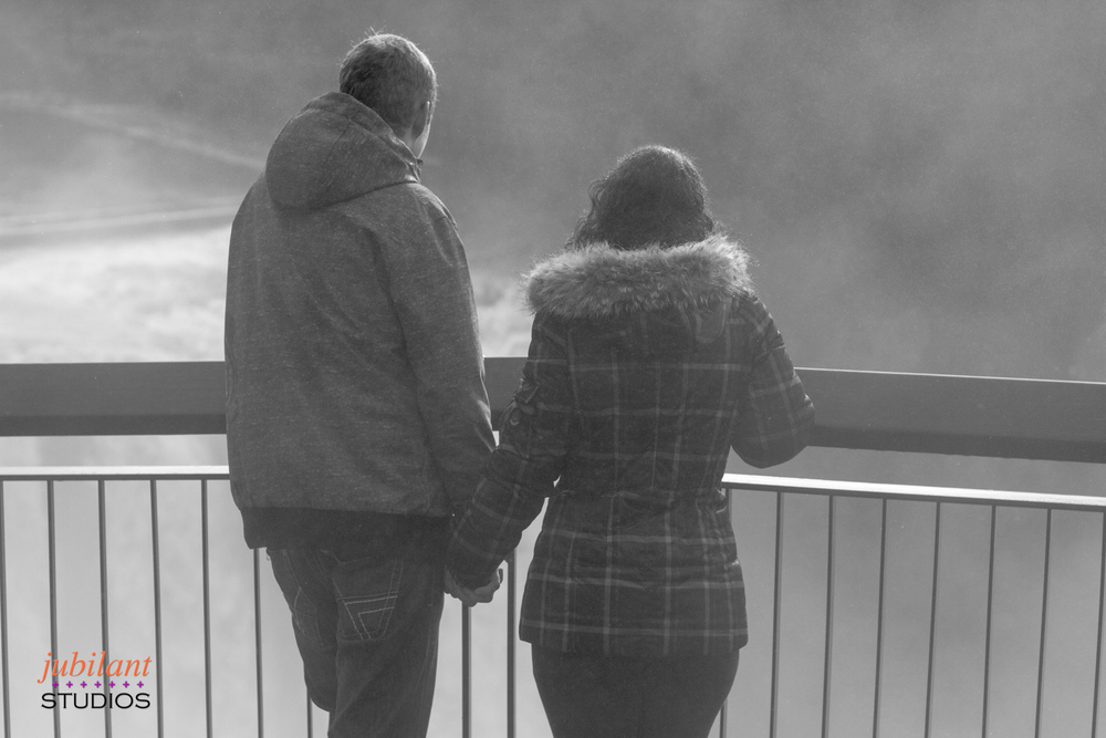 Couple's Portrait Snoqualmie Falls