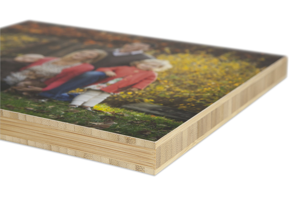 Portrait display bamboo panel
