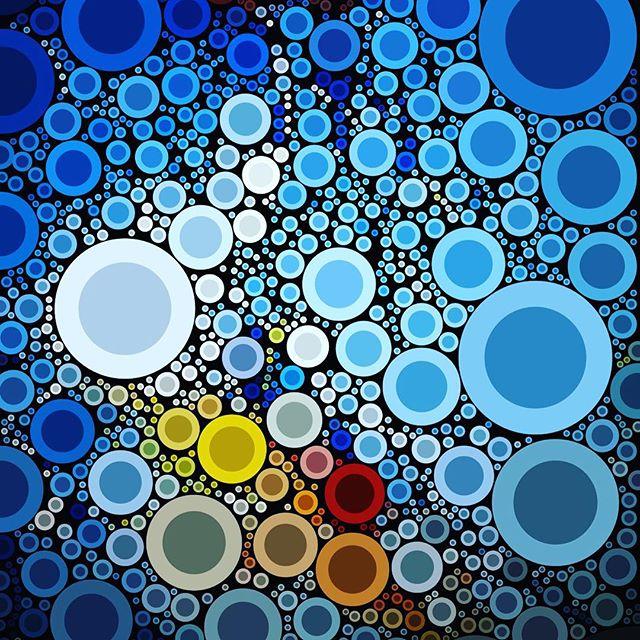 Pantone Percolation for 2016. Happy New Years! #pantone #percolator #percolatorapp #circleart #vector #vectorart @percolator #graphicdesign #graphic #design #art #artist #digitalart #artwork #circles #pixelart #pixels