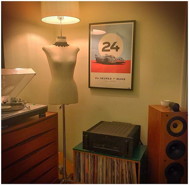 Just in time for the 2016 24 Heures de Mans Race thank you @uniquelimited for the incredible artwork. #917 #porsche #stevemcqueen #24hourslemans #lemans #automotiveart #uniquelimited #racing #917k #porsche917 #Monterey #porsche #fineart #vintageracing #b&w #parasound #techniques #vinyl #audiophile