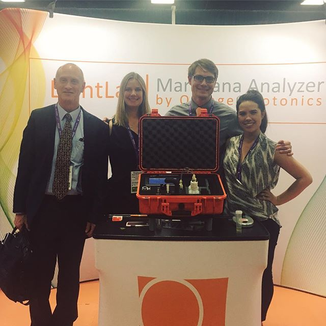 Thank you to everyone who saw us and @orangephotonics over the past two days at the @nationalcannabisindustry conference in Oakland! We are so excited to be joining Orange Photonics in introducing the LightLab for fast and portable cannabis potency analysis. More to come soon! #cannabis #ncia #cannabisscience #medicalmarijuana #marijuana #cannabiscommunity #californiacannabis #safecannabis #cannabischemistry #weed #california