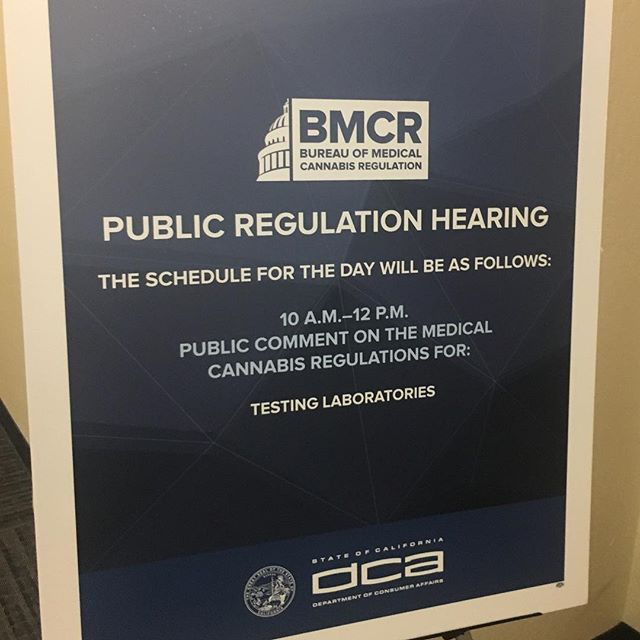 It's so important to get involved in our regulatory process. We hope everyone's made their voice heard during this public comment period. We're in Sacramento today advocating for affordable, feasible quality assurance! #cannabis #cannabisscience #cannabiscommunity #california #BMCR #Cannabis Regulation #labtesting