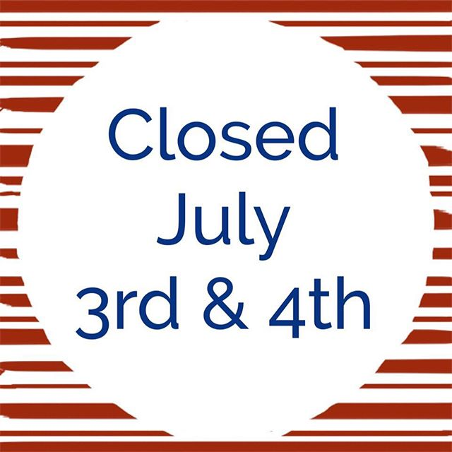 Heads up! Our office will be closed for sample intake and drop off next Monday & Tuesday, July 3rd & 4th. If you have any questions or concerns, feel free to contact customer service. Happy Fourth!