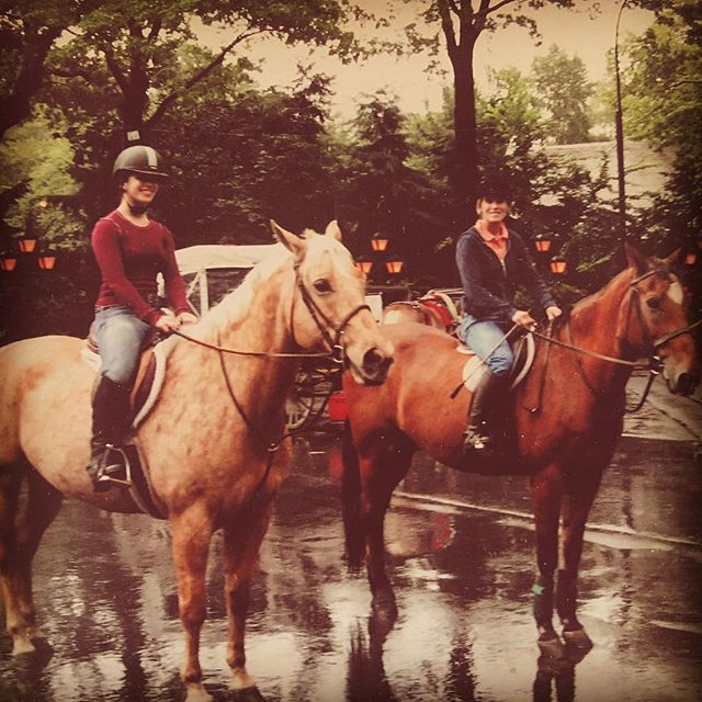 Happy Mother's Day to @dcorreiardh 🐴 Throw back to my first time to NYC where we galloped horses through Central Park! Very special memory that I'll always treasure. Xo