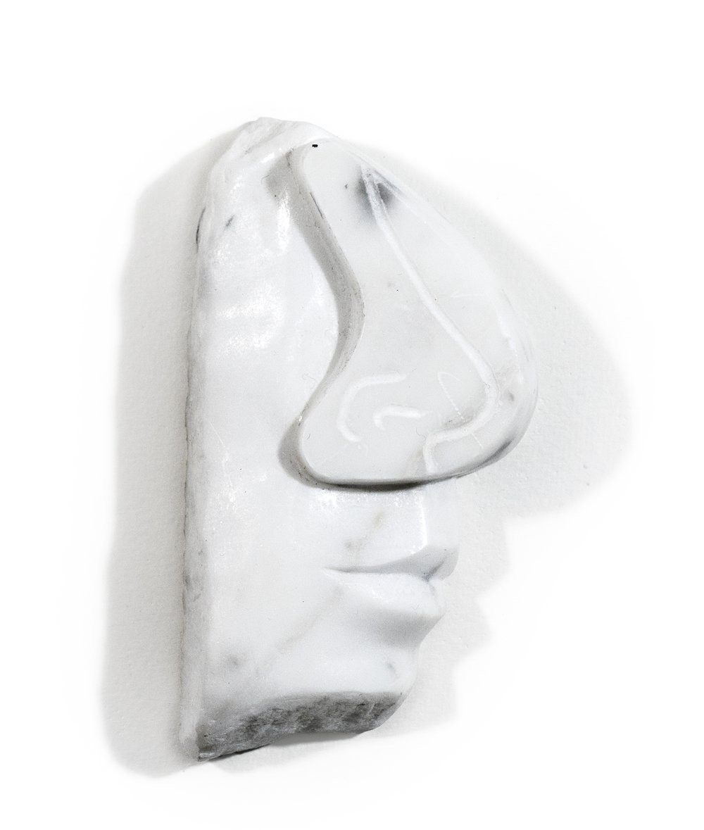 Hard Nosed, 2017, marble, 6 x 4 x 1 1/2 inches
