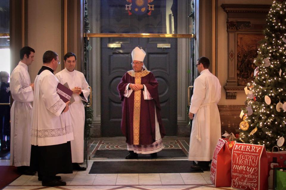 December 20, 2015 -Bisihop Francis DiLorenzo Opening the Holy Door at the Cathedral of the Sacred Heart, Richmond, VA