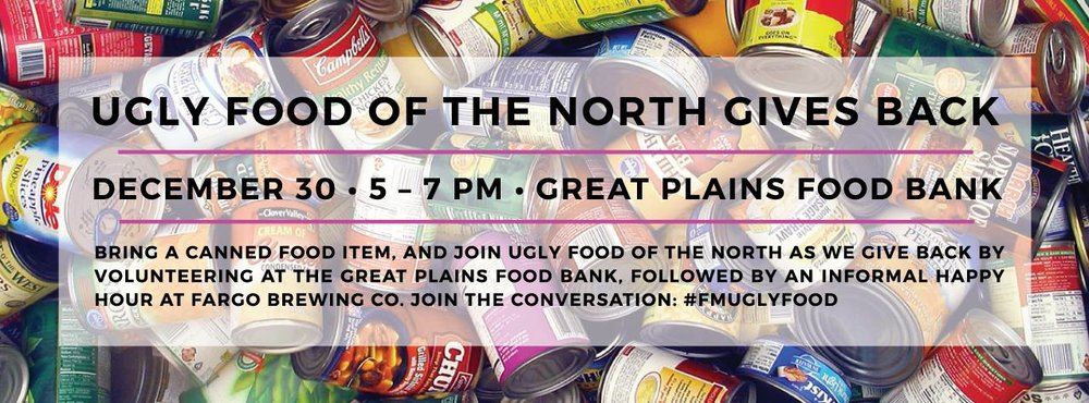 December 2015 -  Volunteer event at Great Plains Food Bank + informal happy hour at Fargo Brewing Company