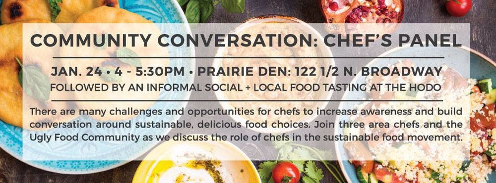 January 2016 -  Community conversation with chef's panel featuring Andrea Baumgardner (Bernbaums), Brian Diumenti ( The Hotel Donaldson ) and Emily Swedberg ( Lucid Bakery )