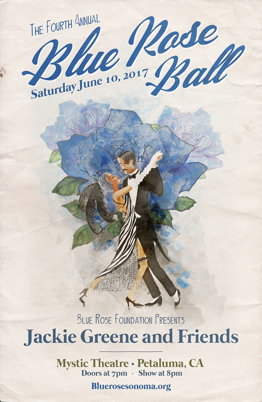 Join us on June 10th at the Mystic Theatre in Petaluma to celebrate the Fourth Annual Blue Rose Ball! Featuring Jackie Greene & Friends.   -