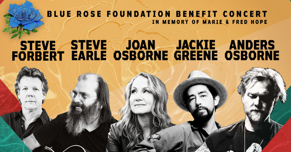 Blue Rose Foundation Benefit  - On Wed. Oct. 18 at the Count Basie Theater in Red Bank, NJ these artists all come together for an incredibly intimate evening.